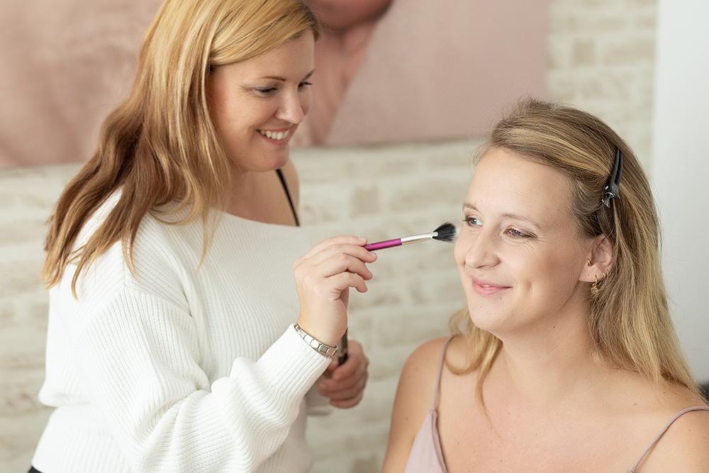 schminken für fotoshooting